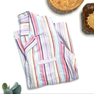 VICTORIA SECRET Striped Soft Cotton Pajamas Set